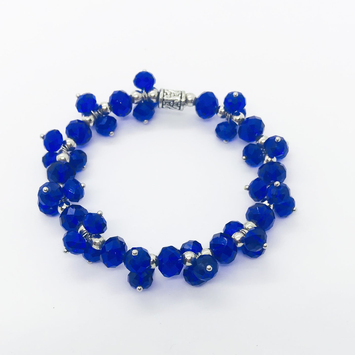 Glass Bead Stretchy Bracelet - B940
