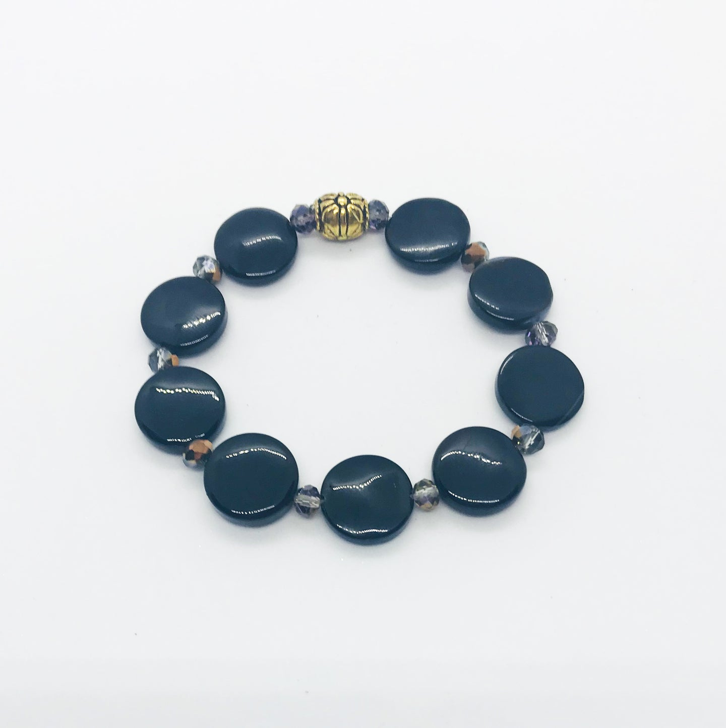 Glass Bead Stretchy Bracelet - B953