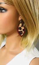 Load image into Gallery viewer, Leopard Cork and Suede Leather Earrings - E19-958