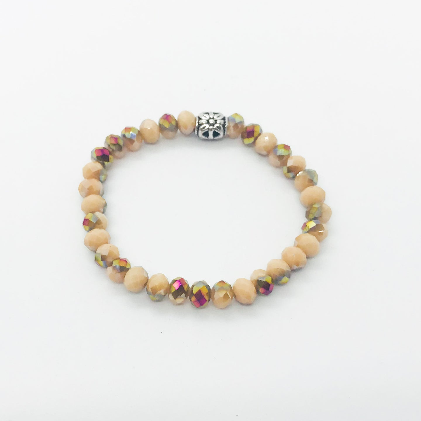 Glass Bead Stretchy Bracelet - B972