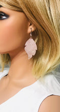 Load image into Gallery viewer, Rose Gold Leather Earrings - E19-972