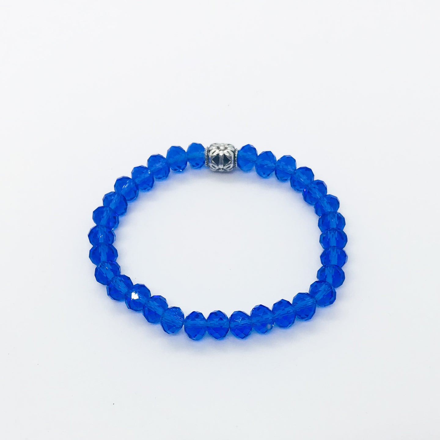 Glass Bead Stretchy Bracelet - B978