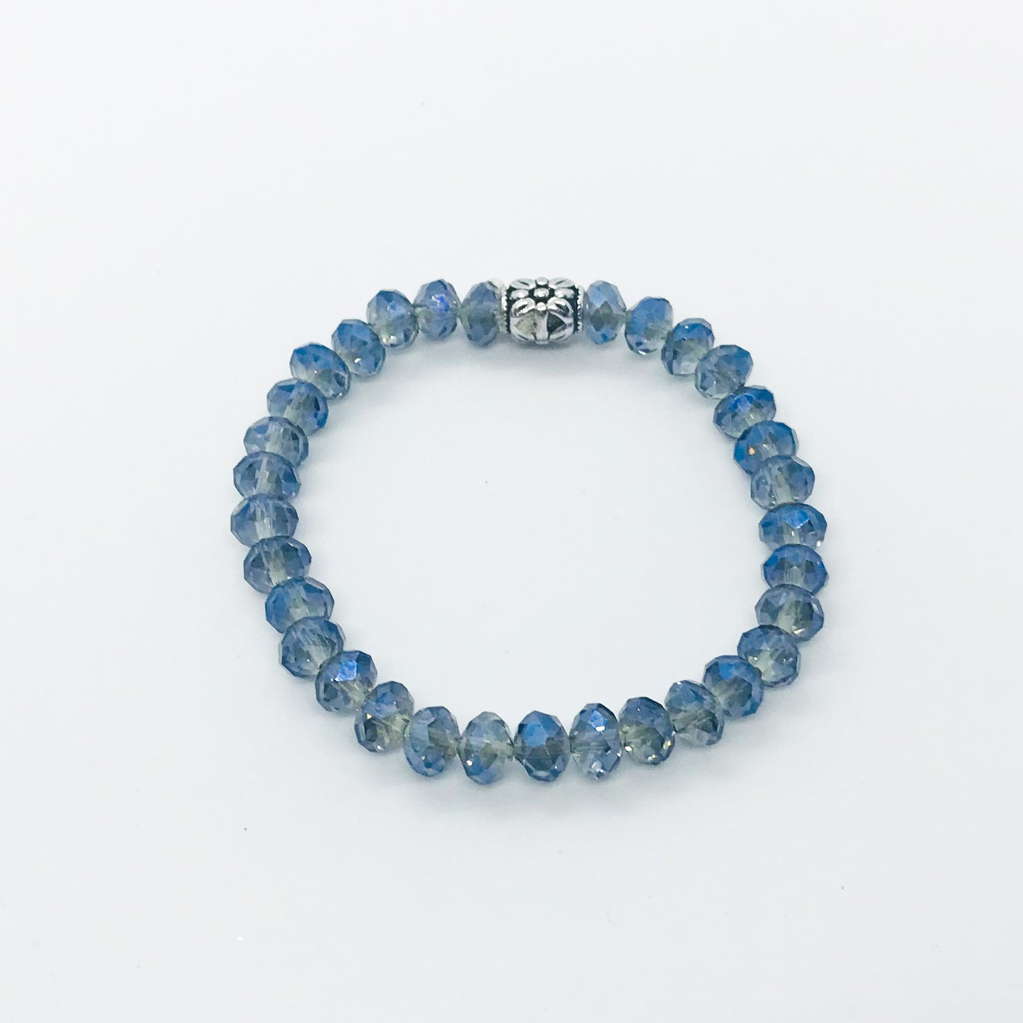 Glass Bead Stretchy Bracelet - B979