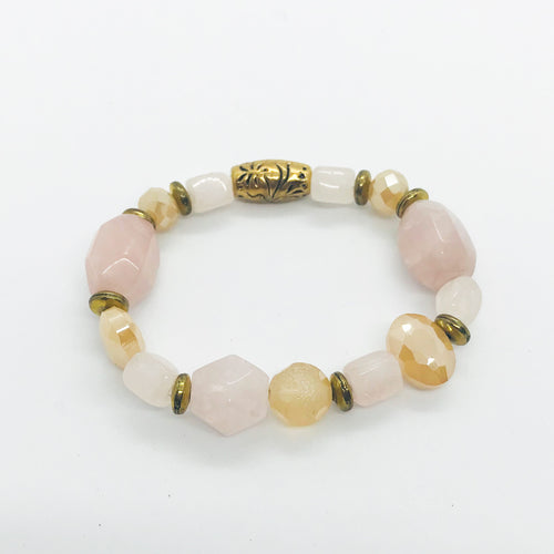 Glass Bead Stretchy Bracelet - B981