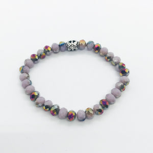 Glass Bead Stretchy Bracelet - B982