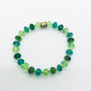 Glass Bead Stretchy Bracelet - B983