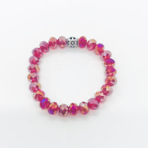 Glass Bead Stretchy Bracelet - B998