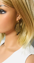 Load image into Gallery viewer, Chocolate Metallic Camo Leather Earrings - E19-999