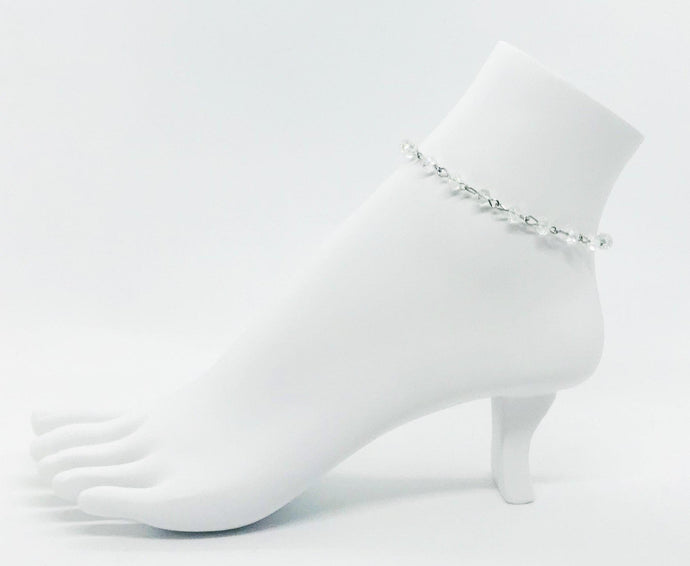 Clear Glass Bead Anklet