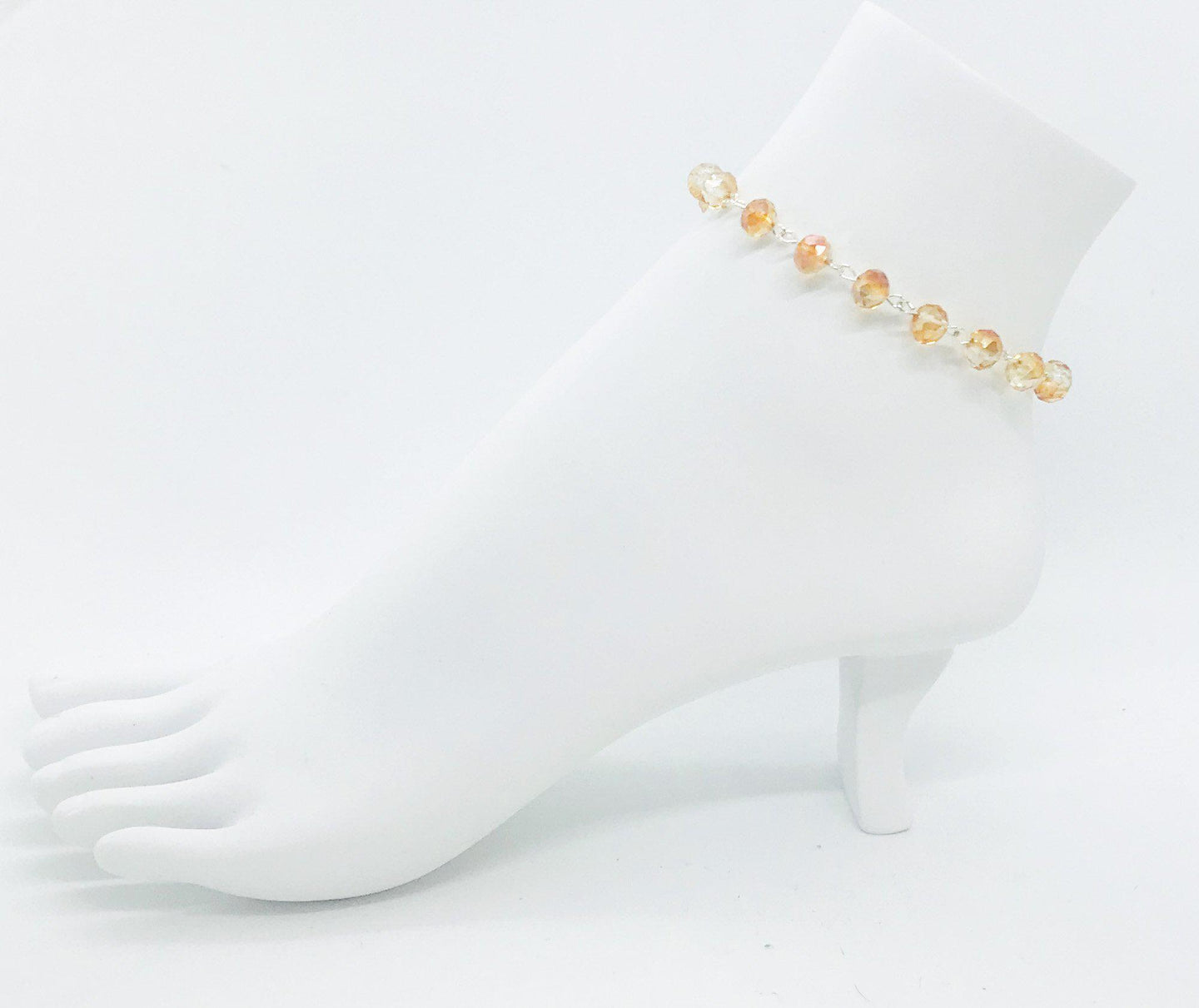 Abacus Gold Glass Bead Anklet