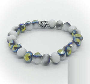 Glass Bead Stretchy Bracelet - B1024