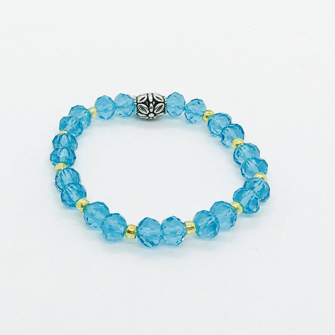 Glass Bead Stretchy Bracelet - B1034