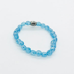 Glass Bead Stretchy Bracelet - B1035