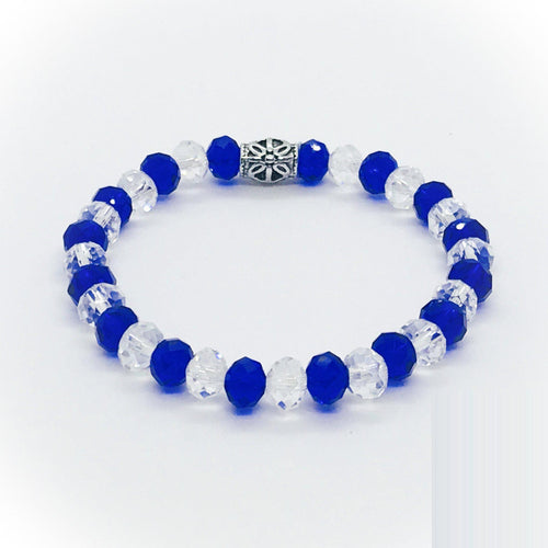 Glass Bead Stretchy Bracelet - B1038