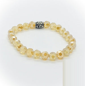 Glass Bead Stretchy Bracelet - B1047