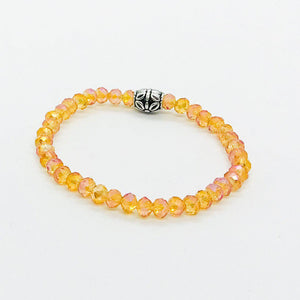 Glass Bead Stretchy Bracelet - B1051