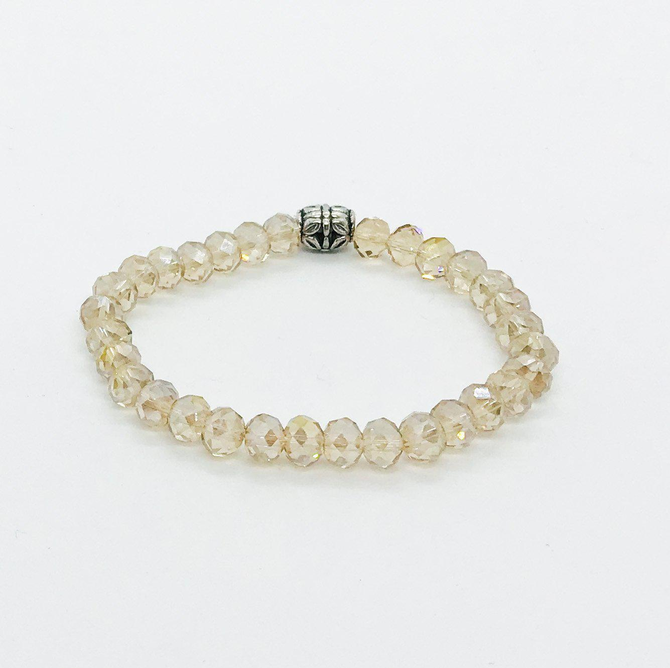 Glass Bead Stretchy Bracelet - B1054