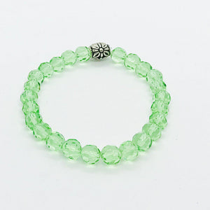 Glass Bead Stretchy Bracelet - B1069