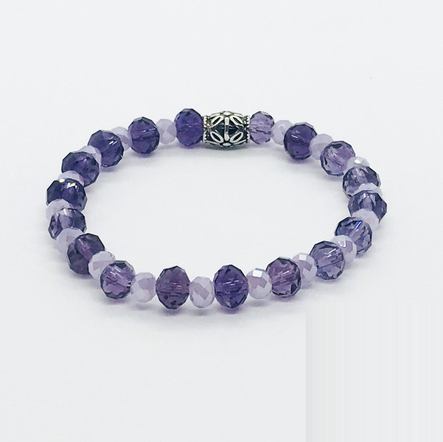 Glass Bead Stretcy Bracelet - B1080