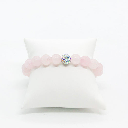Rose Quartz Stretchy Bracelet - B182