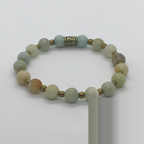 Glass Bead Stretchy Bracelet - B901