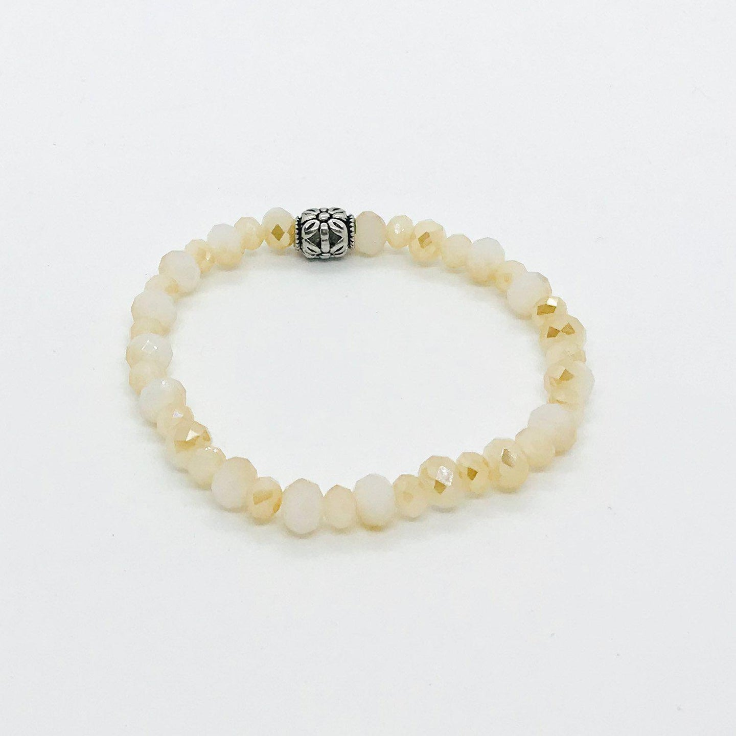 Glass Bead Stretchy Bracelet - B964