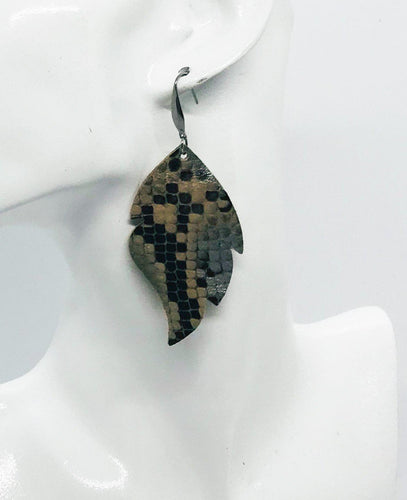 Genuine Python Snake Leather Earrings - E19-1016