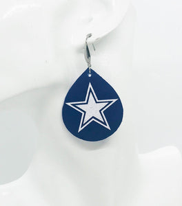 Dallas Cowboys Themed Leather Earrings - E19-1021