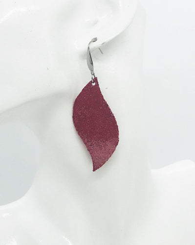 Crimson Dazzle Leather Earrings - E19-1030