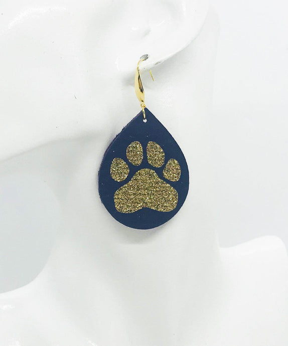 LSU Themed Leather Earrings - E19-1031