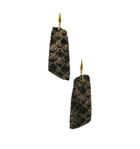 Mystic Python Leather Earrings - E19-1052