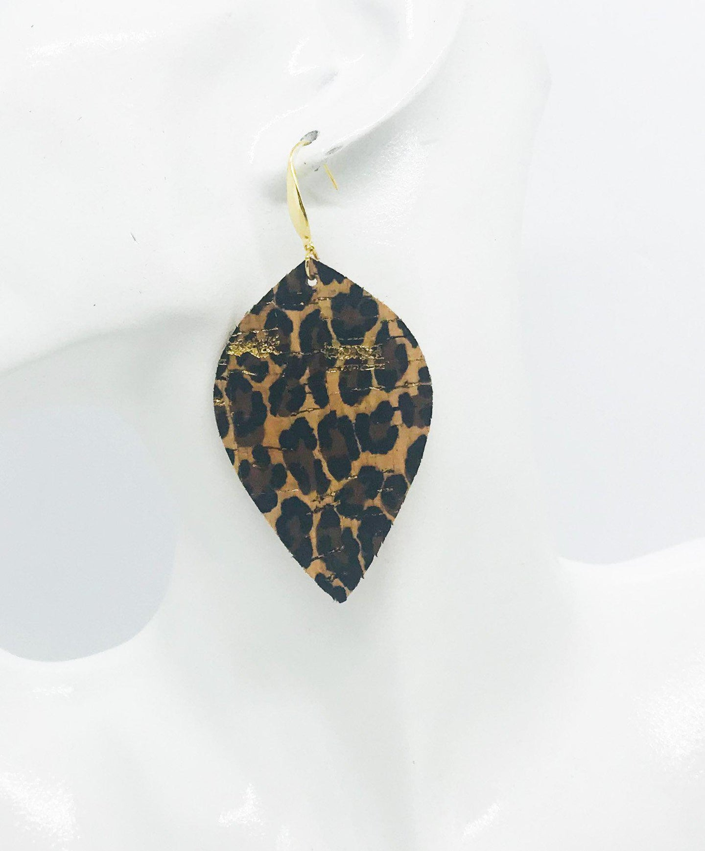 Baby Cheetah Cork Leather Earrings - E19-1065