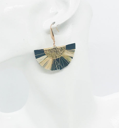 Multi Color Fan Shaped Tassel Earrings - E19-1080