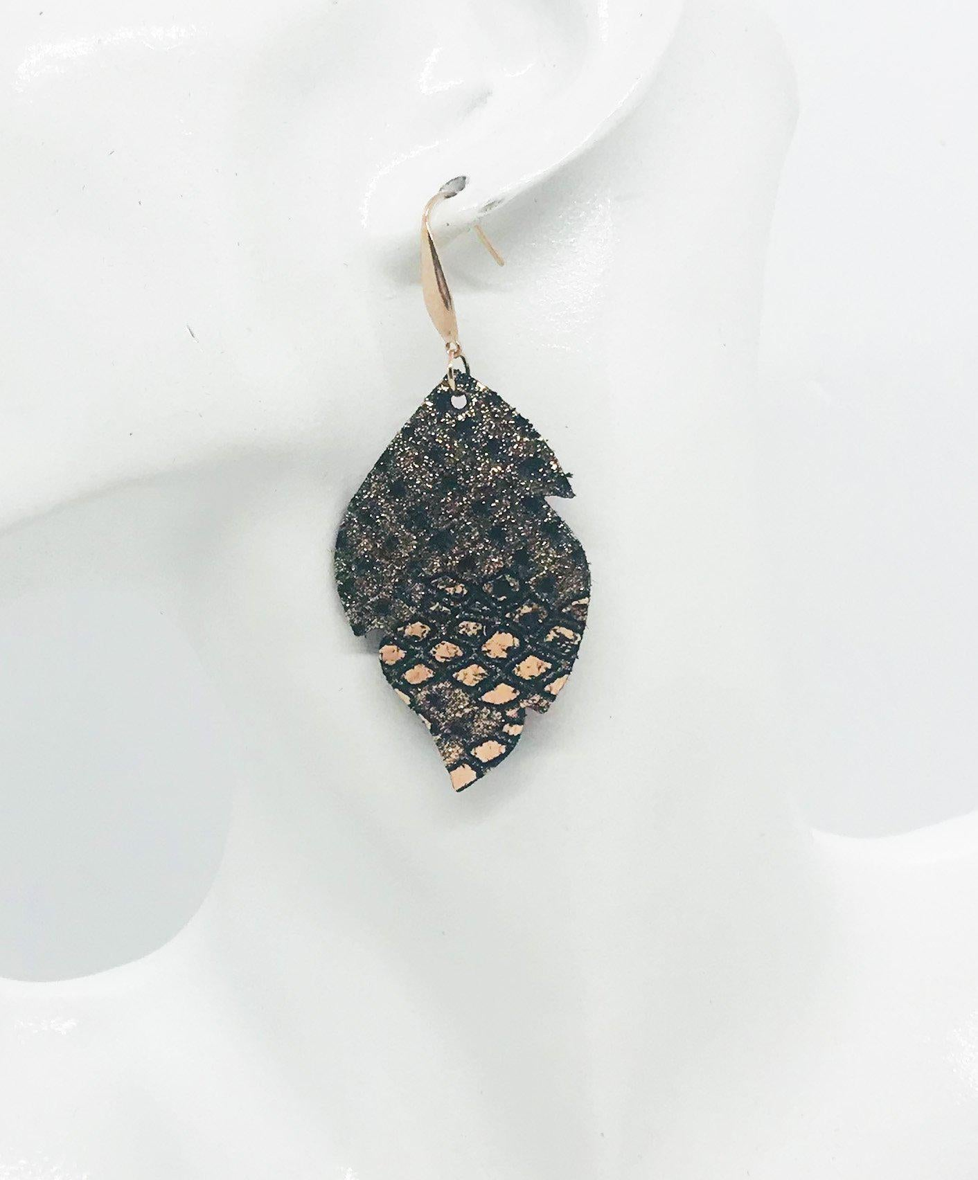 Mystic Python Leather Earrings - E19-1086