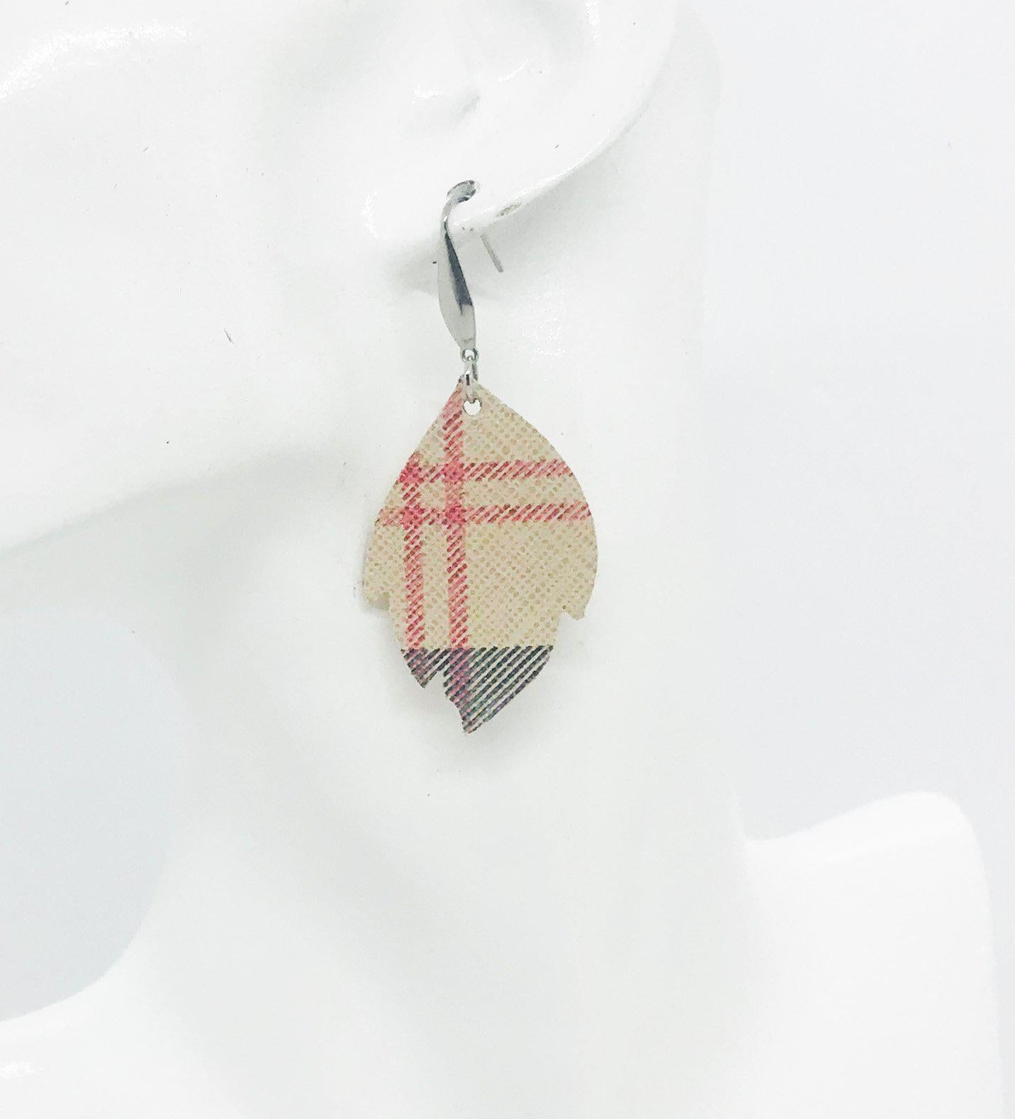 Preppy Plaid Leather Earrings - E19-1095