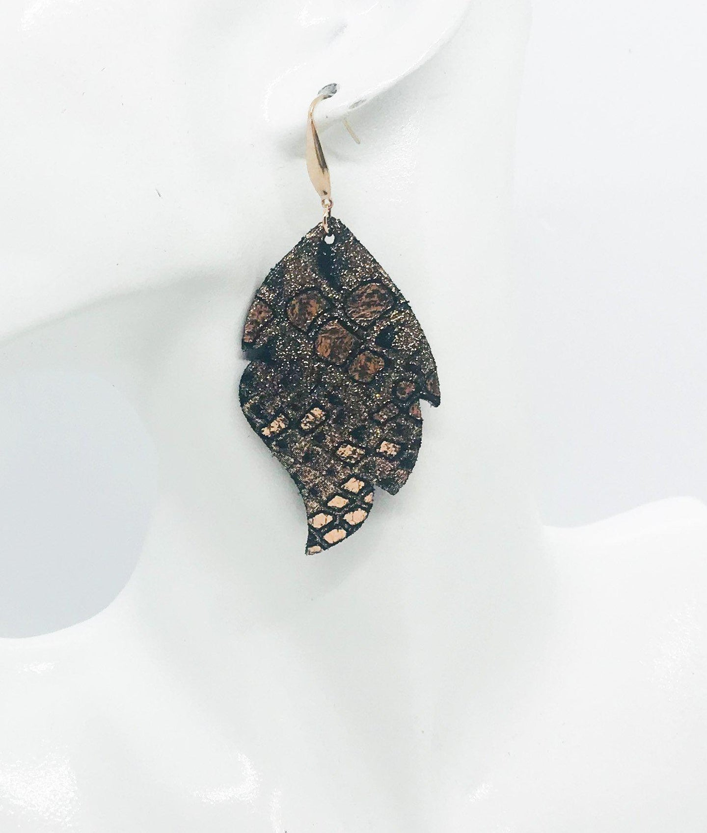 Mystic Python Leather Earrings - E19-1104