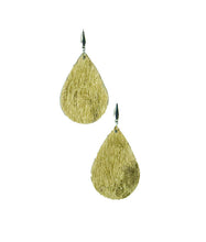 Load image into Gallery viewer, Gold Hair On Leather Earrings - E19-1116