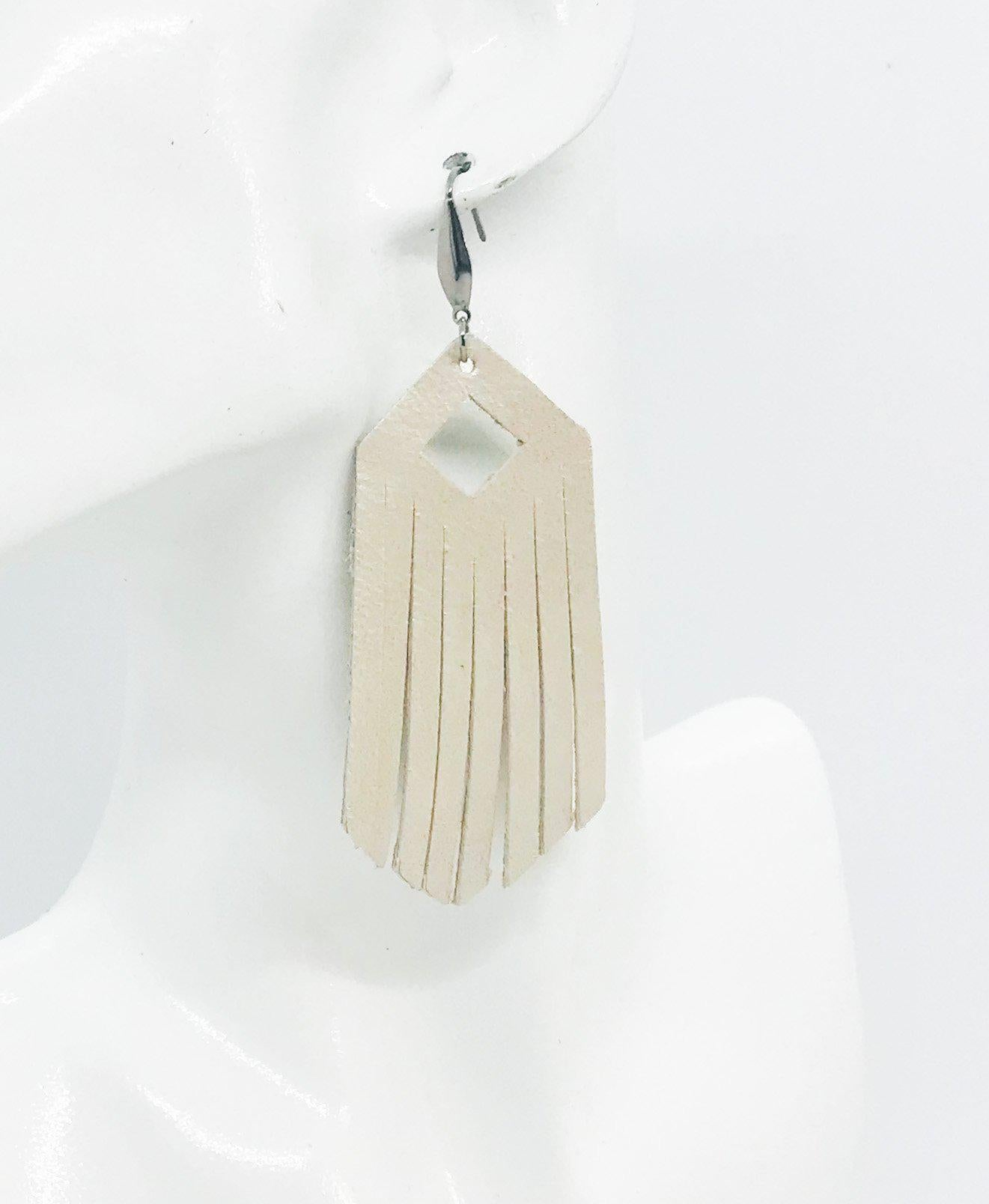 Champagne Leather Earrings - E19-1152