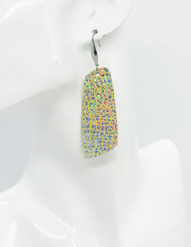 Silver Halo Banana Leather Earrings - E19-1183