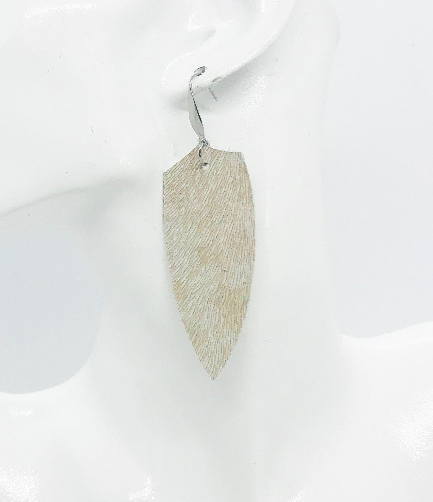 Hair On Pattern Leather Earrings - E19-1274