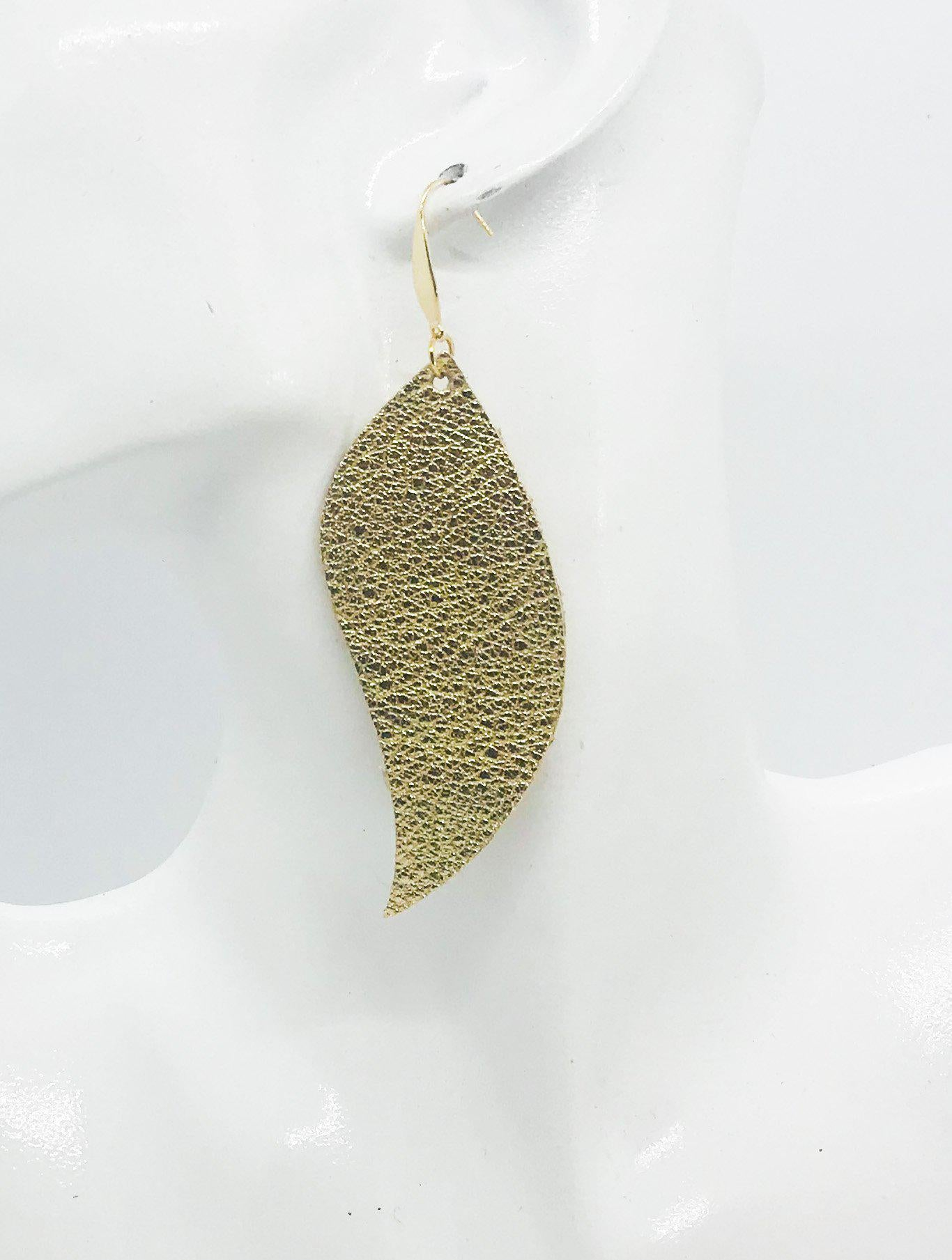 Gold Leather Earrings - E19-1275