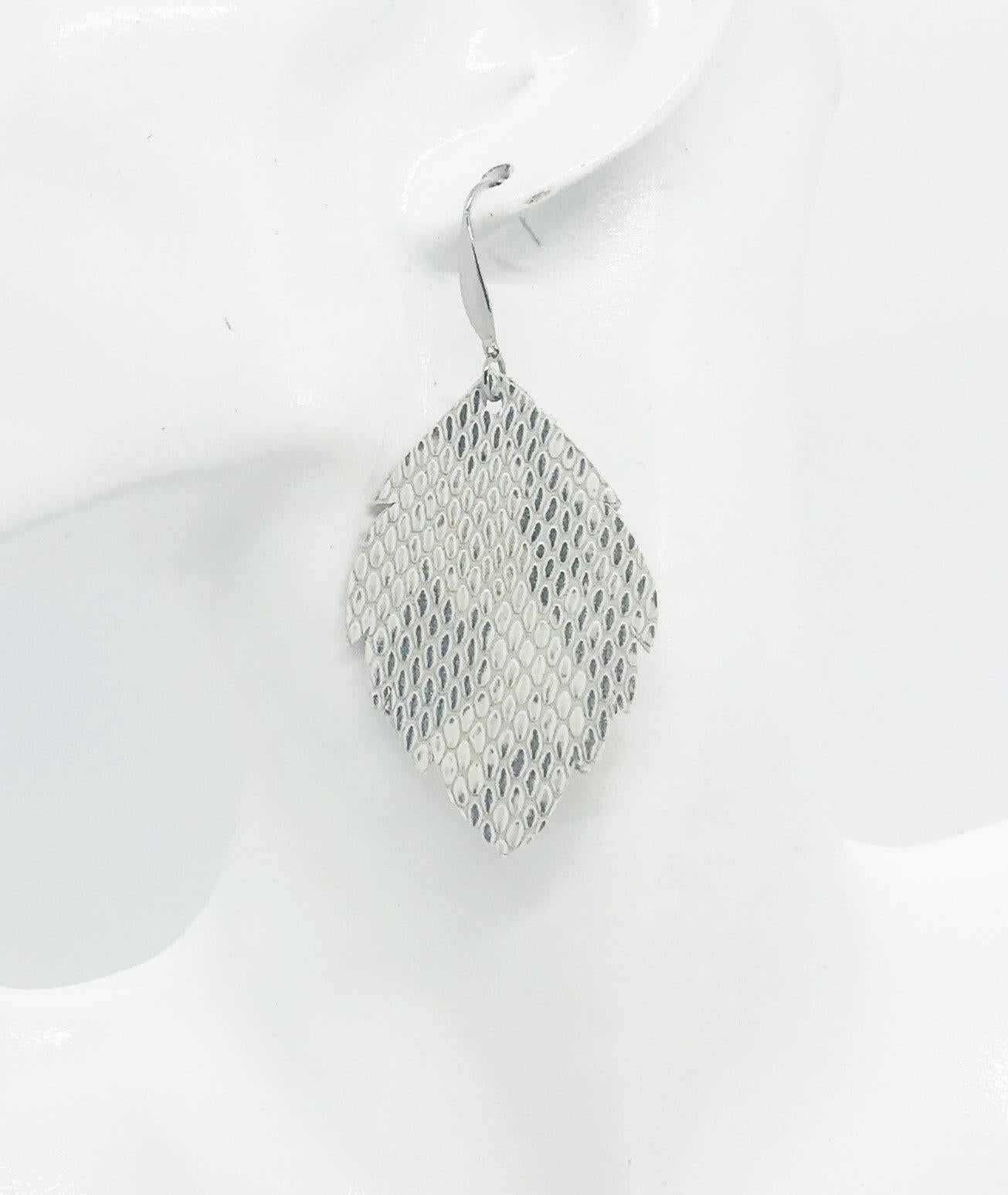 Urban Textured Snake Leather Earrings - E19-1278