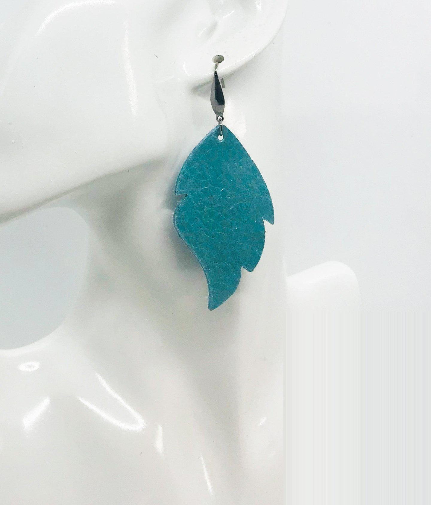 Blue Green Soft Leather Earrings - E19-1492