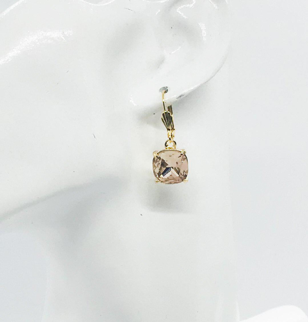 Rhinestone Dangle Earrings - E19-166