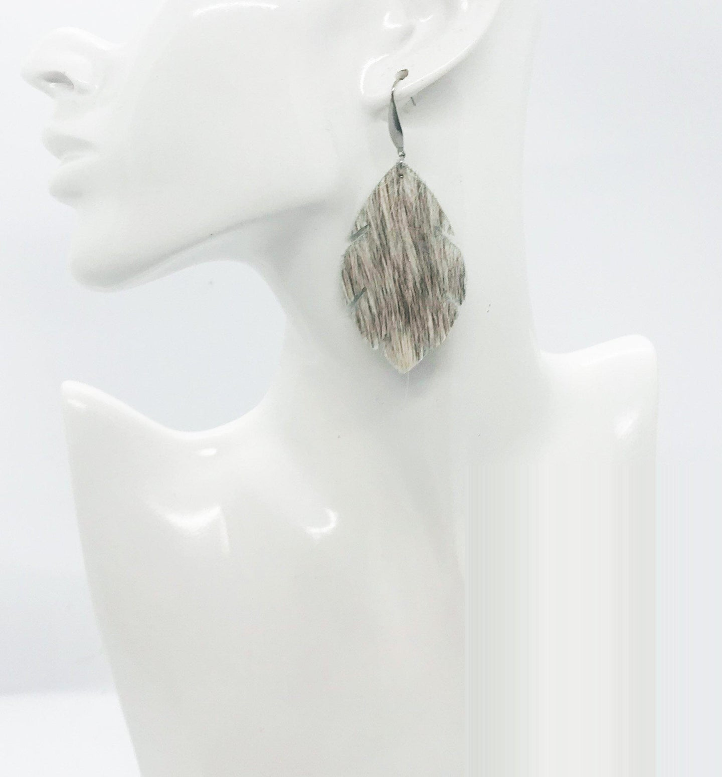 Hair On Leather Earrings - E19-1718