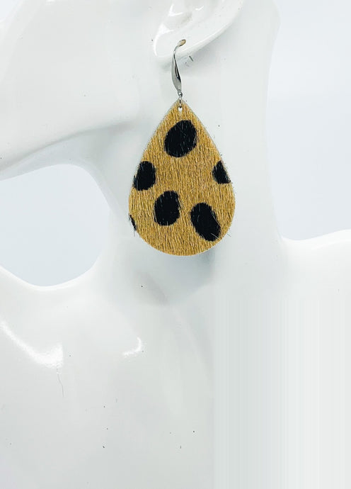 Hair On Leopard Leather Earrings - E19-1803