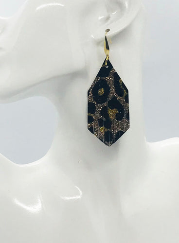 Leopard Glitter and Faux Leather Earrings - E19-1935