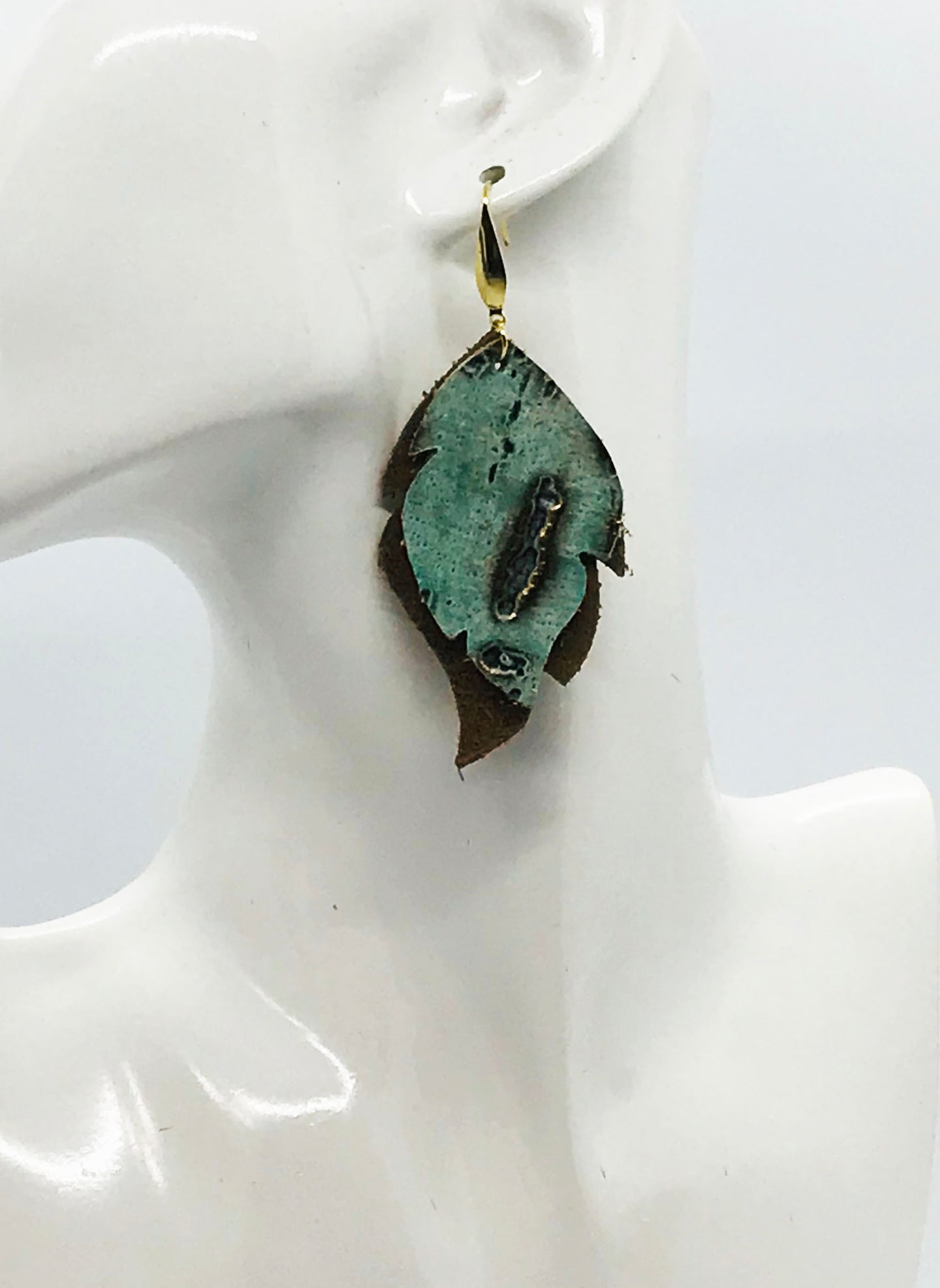 Driftwood and Suede Leather Earrings - E19-1980