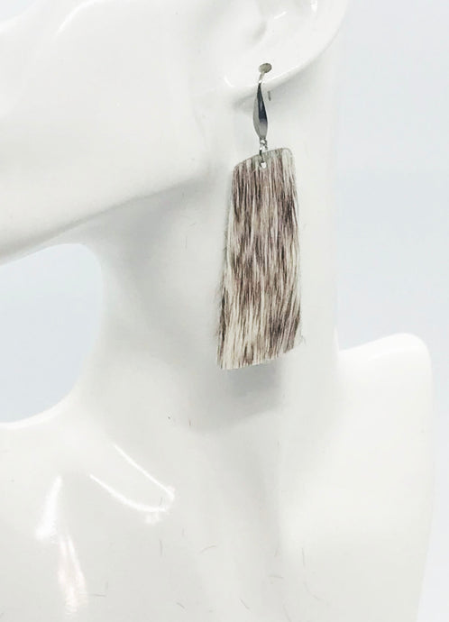 Hair On Leather Earrings - E19-2105