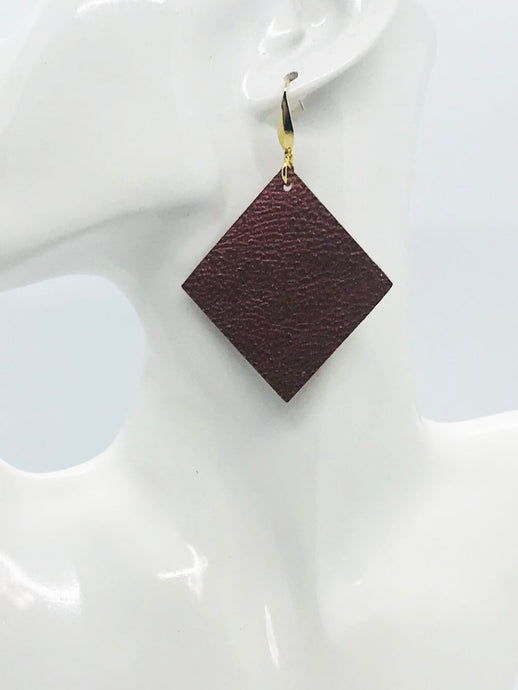 Copper Faux Leather Earrings - E19-2123